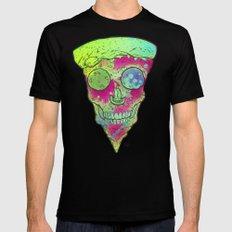Skull Slice Neon MEDIUM Black Mens Fitted Tee
