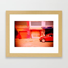 Punchbuggy Red Framed Art Print