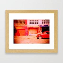 Punchbuggy Red Framed Art Print