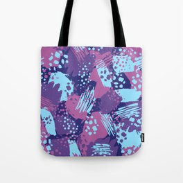 Modern brush blots Tote Bag