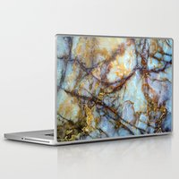 gray Laptop & iPad Skins featuring Marble by Patterns and Textures