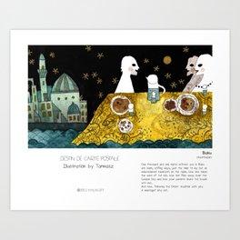 """Baku"" in words & image (Tarmasz) Art Print"