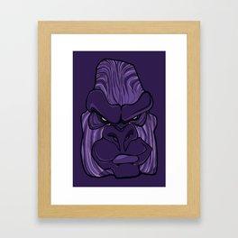 Gorilla - Ultra Violet Purple Framed Art Print
