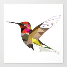 Pink hummingbird portrait Canvas Print