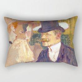 "Henri de Toulouse-Lautrec ""The Englishman (William Tom Warrener, 1861–1934)"" Rectangular Pillow"