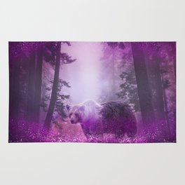 Fairy bear out of the woods Rug