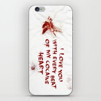 cocaine iPhone & iPod Skins featuring COCAINE LOVE by Beauty Killer Art