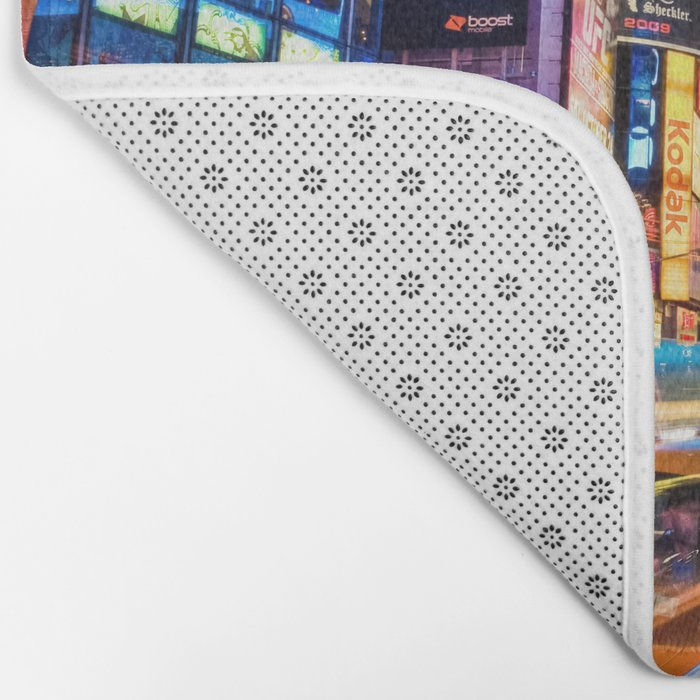 You Will Never Forget: Times Square, New York City Bath Mat