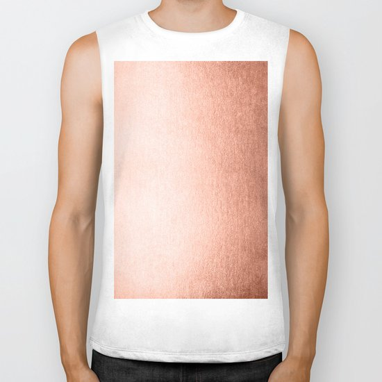 Simply Sweet Peach Coral Shimmer Biker Tank