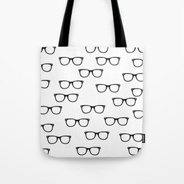I See // Hipster Glasses Pattern Tote Bag