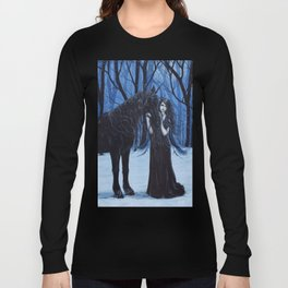 Midnight Travelers Gothic Fairy and Unicorn Long Sleeve T-shirt