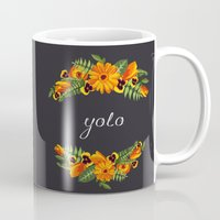wwe Mugs featuring Yolo by eARTh