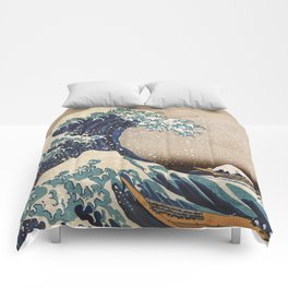 The Great Wave off Kanagawa Comforters
