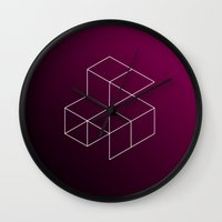 geometry Wall Clocks featuring Geometry by Geometry