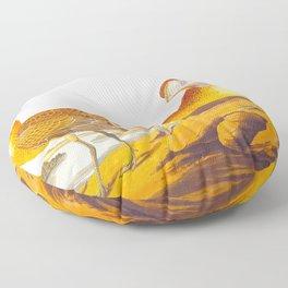 Buff-breasted Sandpiper Bird Floor Pillow