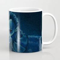 loki Mugs featuring Loki by Sara Cooley