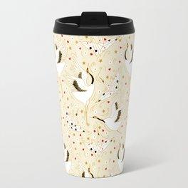 Origami Crane Metamorphosis (Cream) Travel Mug