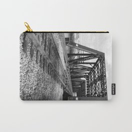 Train Bridge 1 - B&W Carry-All Pouch