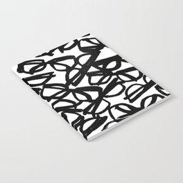 Black Eyeglasses Notebook
