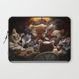 Cats play poker Laptop Sleeve