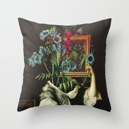 Florales Portrait Disaster Throw Pillow