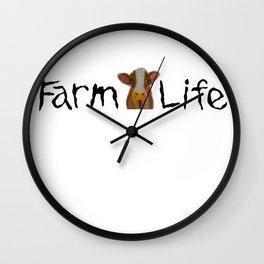 Farm Life featuring Arlie!!! Wall Clock
