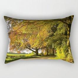 Country Lane in Rural Hampshire Rectangular Pillow