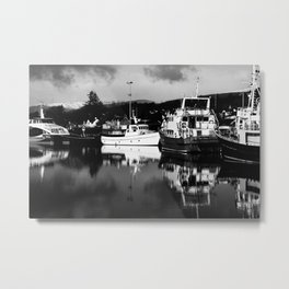 Boats on the Canal Metal Print