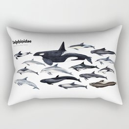 Delphinidae: Dolphin family Rectangular Pillow