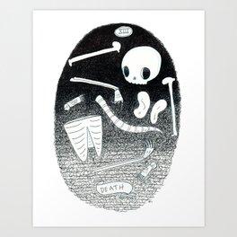 Death Skeleton Tarot Art Print