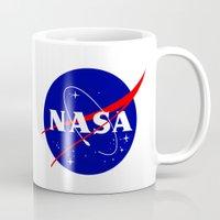 nasa Mugs featuring I Need My Space NASA by NoHo