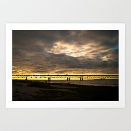 Waiting on the Sun to set Art Print
