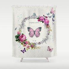 Papillons Shower Curtain