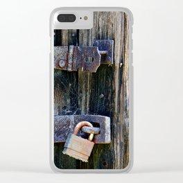 lock & hinge Clear iPhone Case