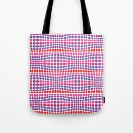 Dottywave - Red Pink Purple wave dots pattern Tote Bag