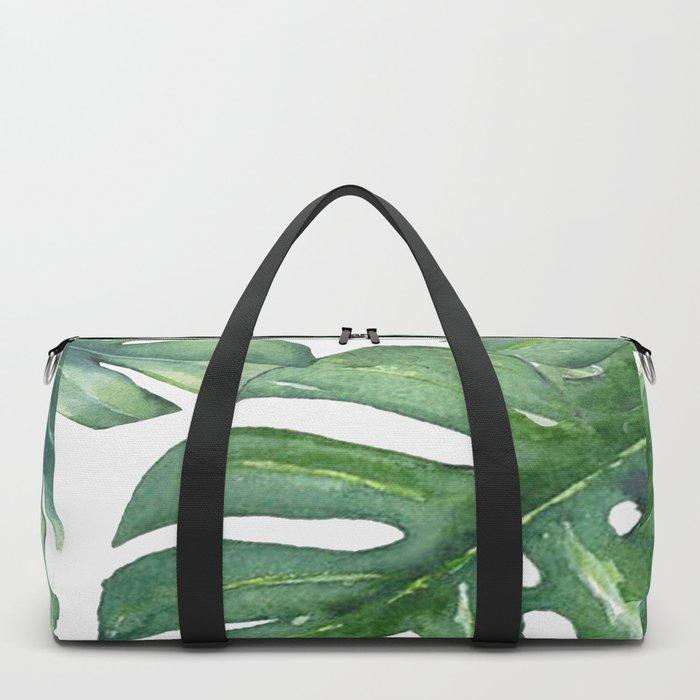 Monstera Leaves Duffle Bag