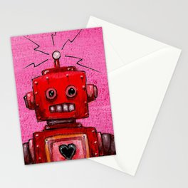 Orange-bot Stationery Cards