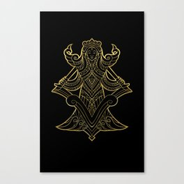 Virgo Gold Canvas Print