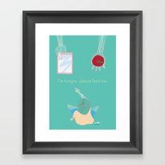 Hungry Framed Art Print