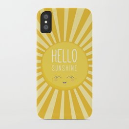 KAWAII SKY - happy smiling sun - hello sunshine quote iPhone Case