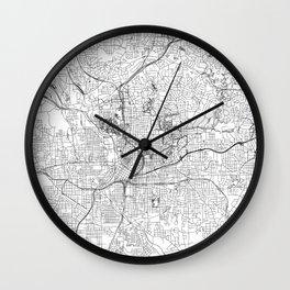 Atlanta White Map Wall Clock