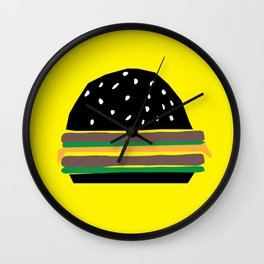 fastfood hamburger Wall Clock
