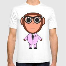 Cool monkey MEDIUM White Mens Fitted Tee
