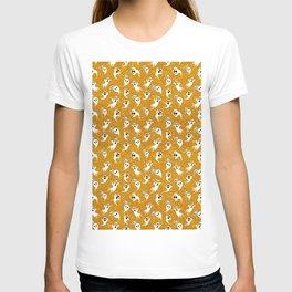 Gold Glitter Halloween Ghosts Boo T-shirt
