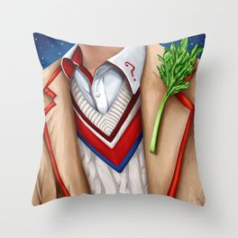 The Fifth Doctor Throw Pillow