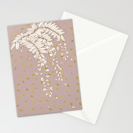 Wisteria in Gold Stationery Cards