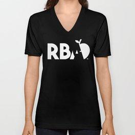 RBA Comics White Logo Unisex V-Neck