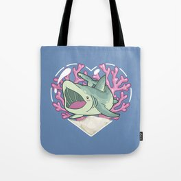 GULP, the Basking Shark Tote Bag