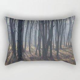 Fog Autumn forest Rectangular Pillow