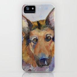German shepherd - coloristic iPhone Case